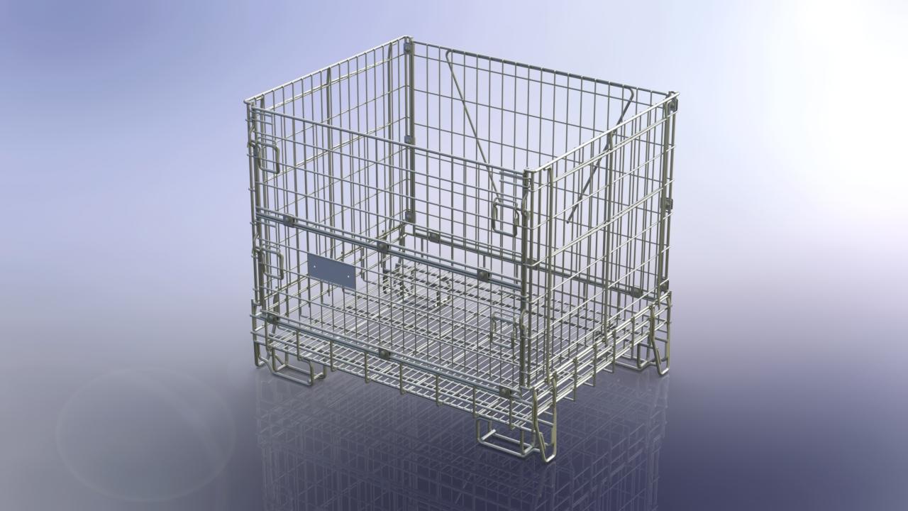 přepravní kontejner skládací stohovací 1